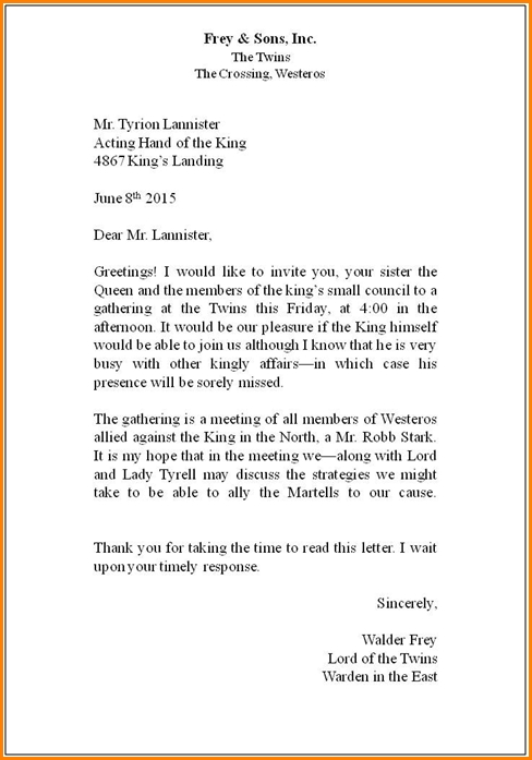 Correct Way To Write A Business Letter The Best Letter Sample