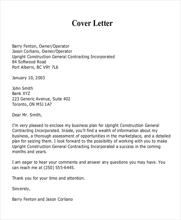 Cover Letter For Business Proposal Scrumps