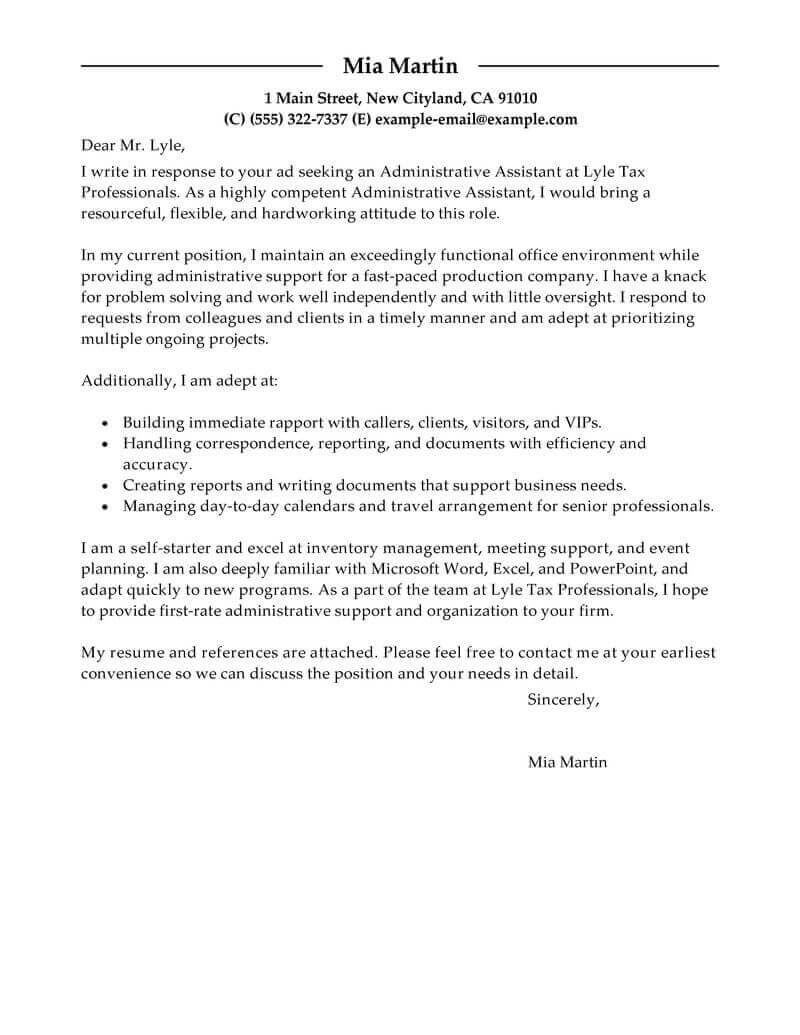 best cover letter for administrative assistant Boat.jeremyeaton.co