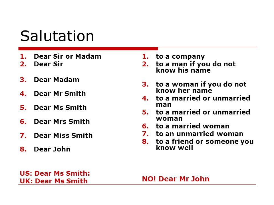 dear mr and mrs smith
