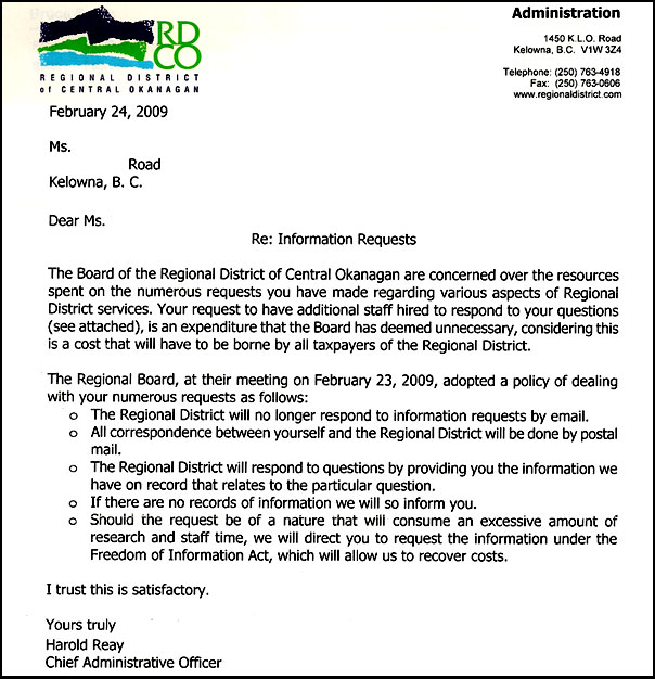 North Westside Road Fire Rescue Freedom of Information Act