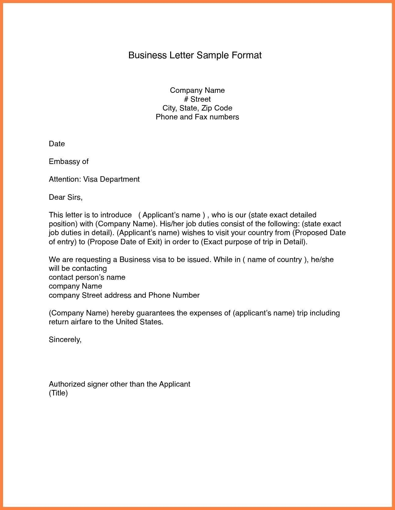 Format Of Business Letter Spacing Valid Cover Letter Format Email