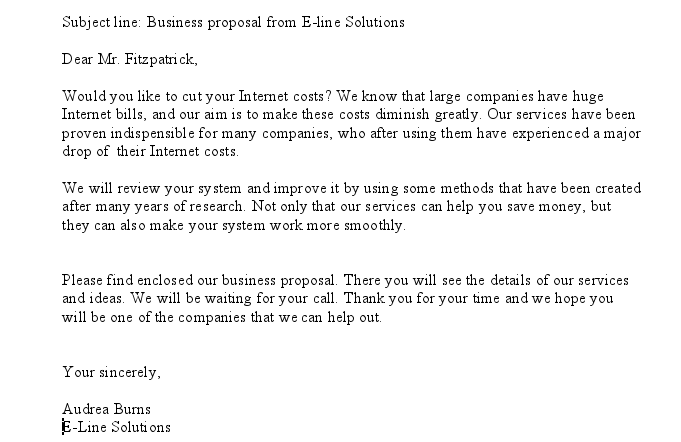 email template for business proposal email template for business