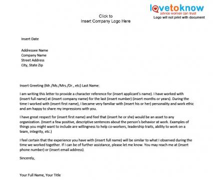 Bunch Ideas of Employment Character Reference Letter Also