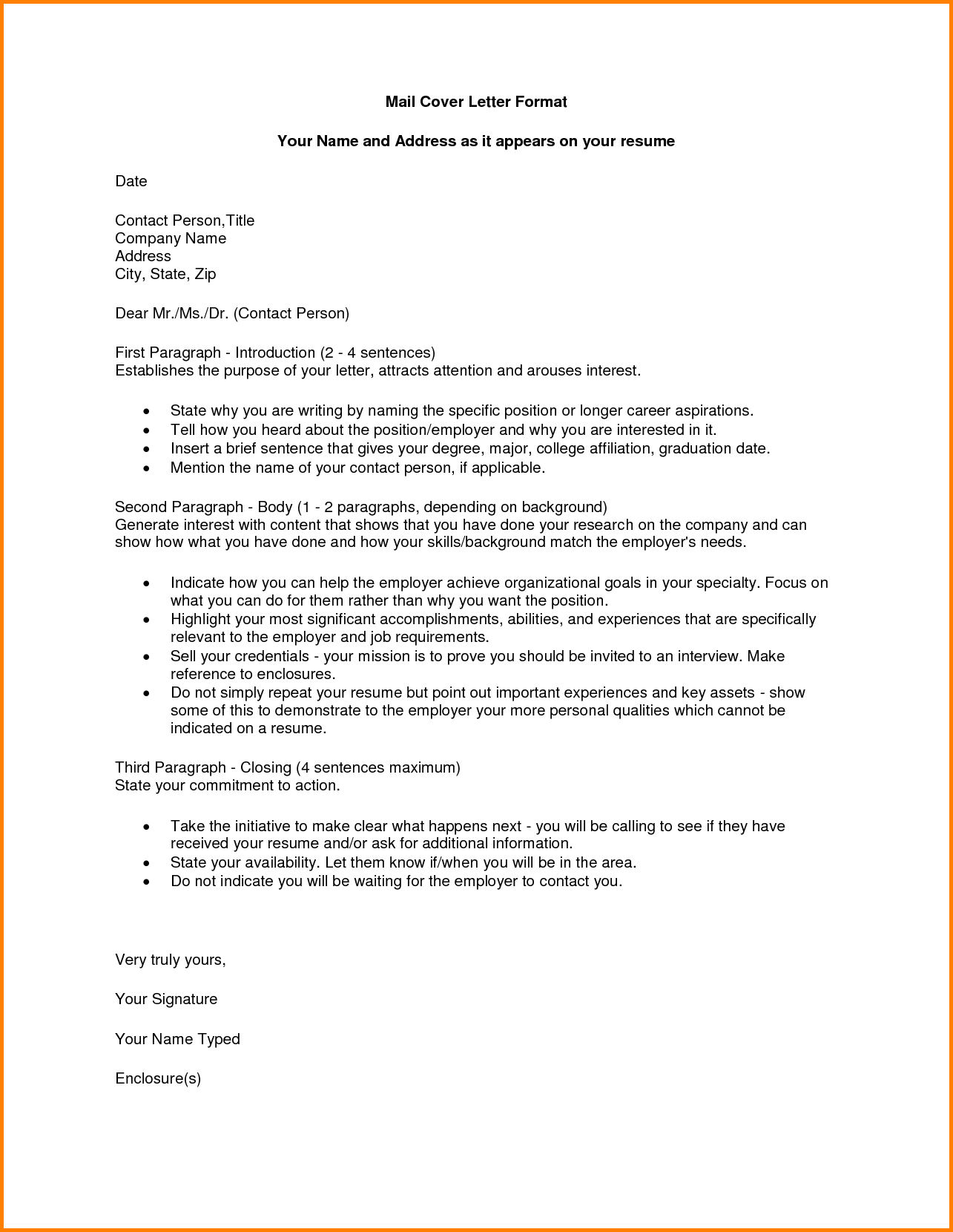 enclosed letter format – infoe link