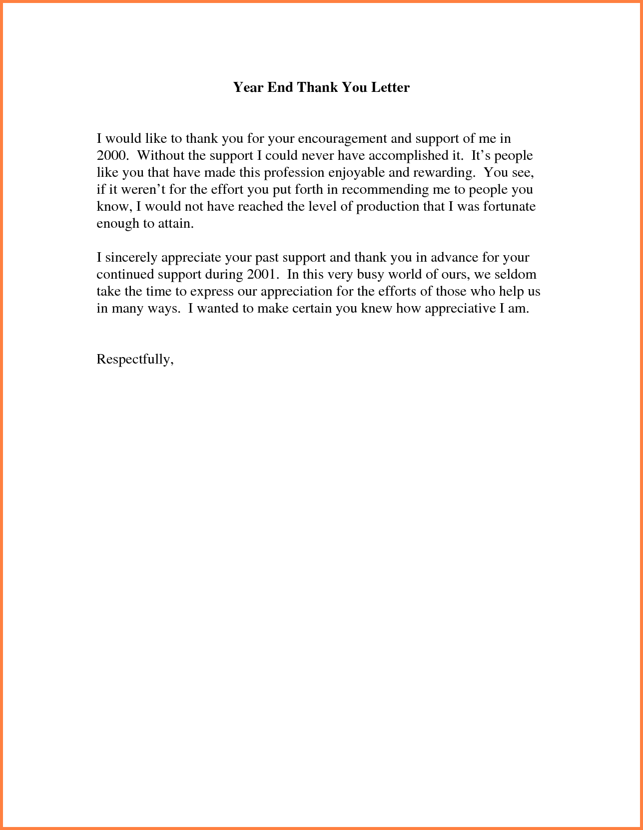 Collection Of solutions Thank You Letter but Ending Business