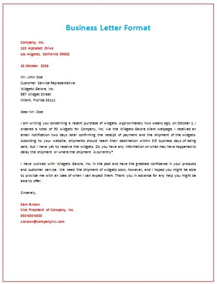 template for business letter Boat.jeremyeaton.co