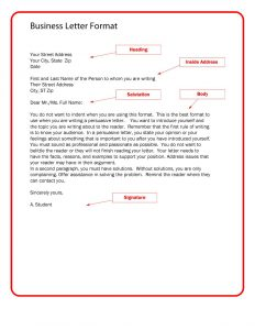Example Of Business Letter Format Scrumps