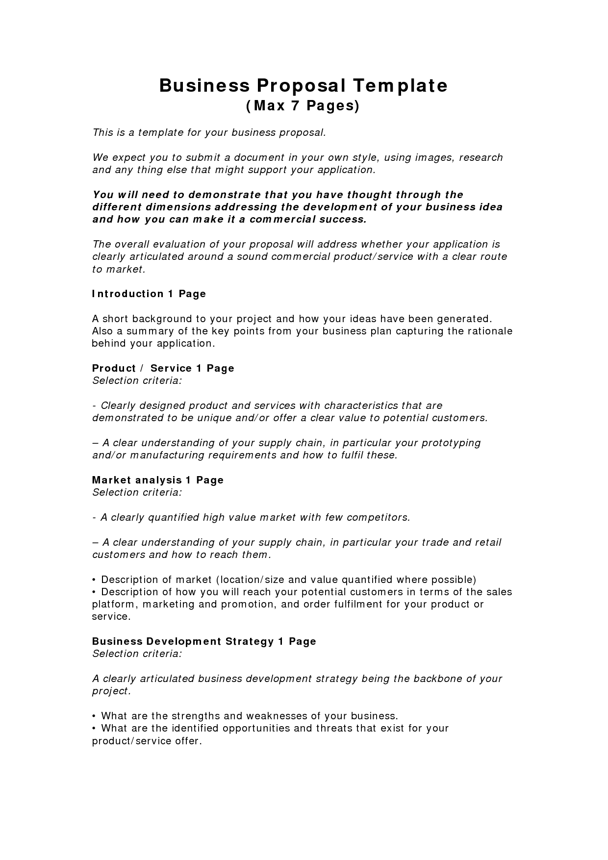 Business Proposal Templates Examples | Business Proposal Template