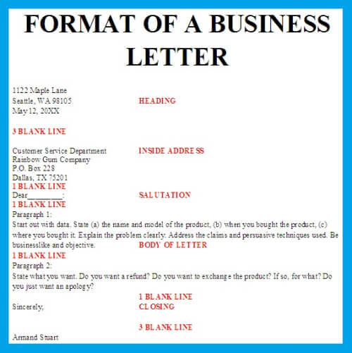 dixies full block business letter