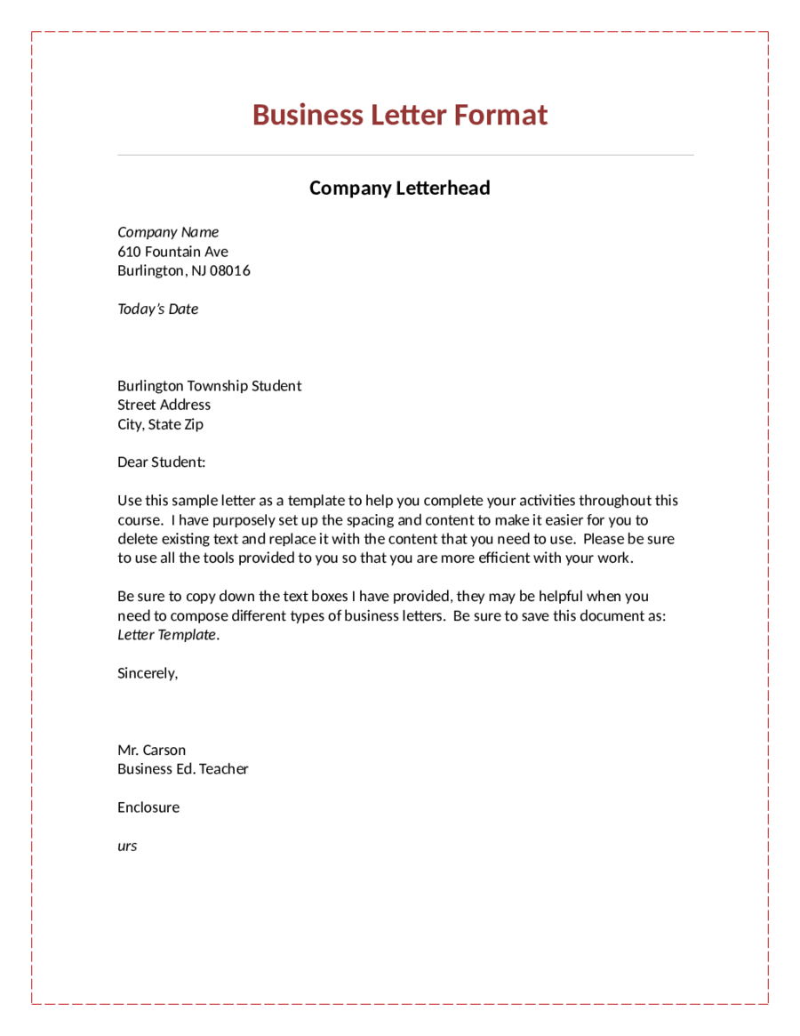 official business letter format 28 images printable formal