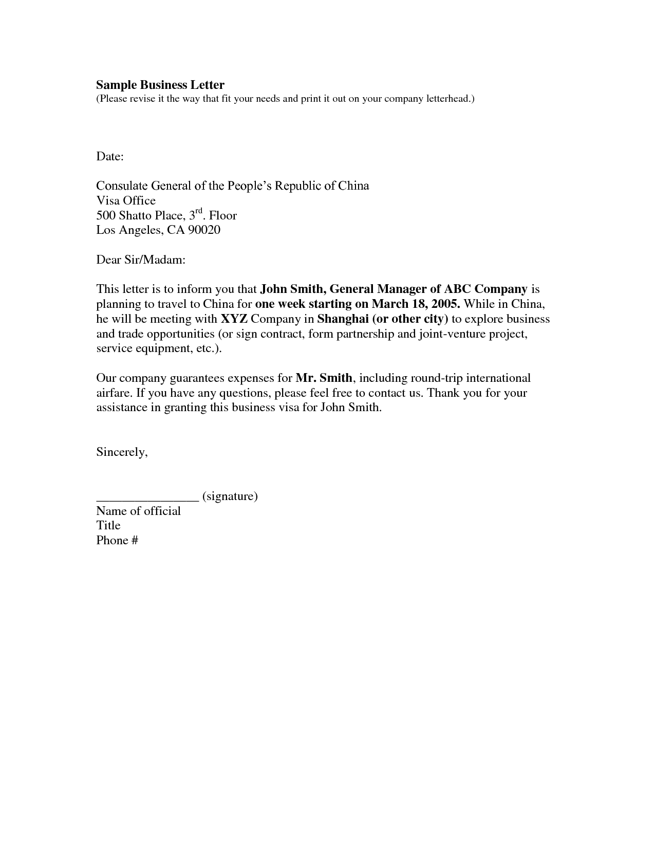 Collection Of solutions Business Letter Samples Free Fancy Example