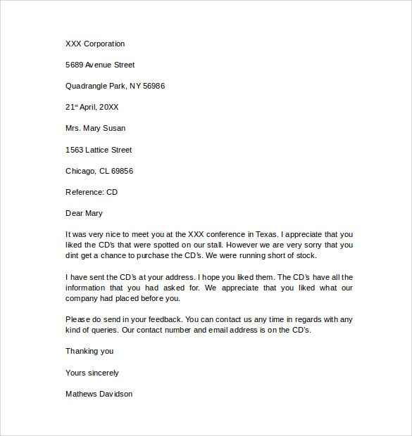 12 Business Letter Templates – Free Samples , Examples & Format