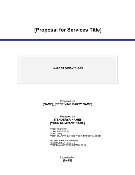 Proposal for Services Template & Sample Form | Biztree.com