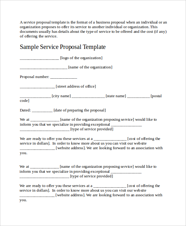 free sample proposal for services scrumps