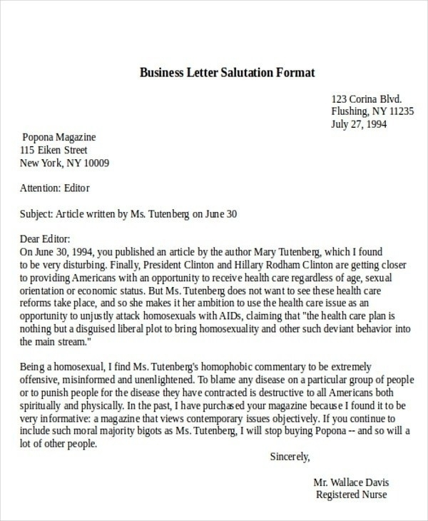Greeting Business Letter Letter Greetings Lukexco .pointpoint