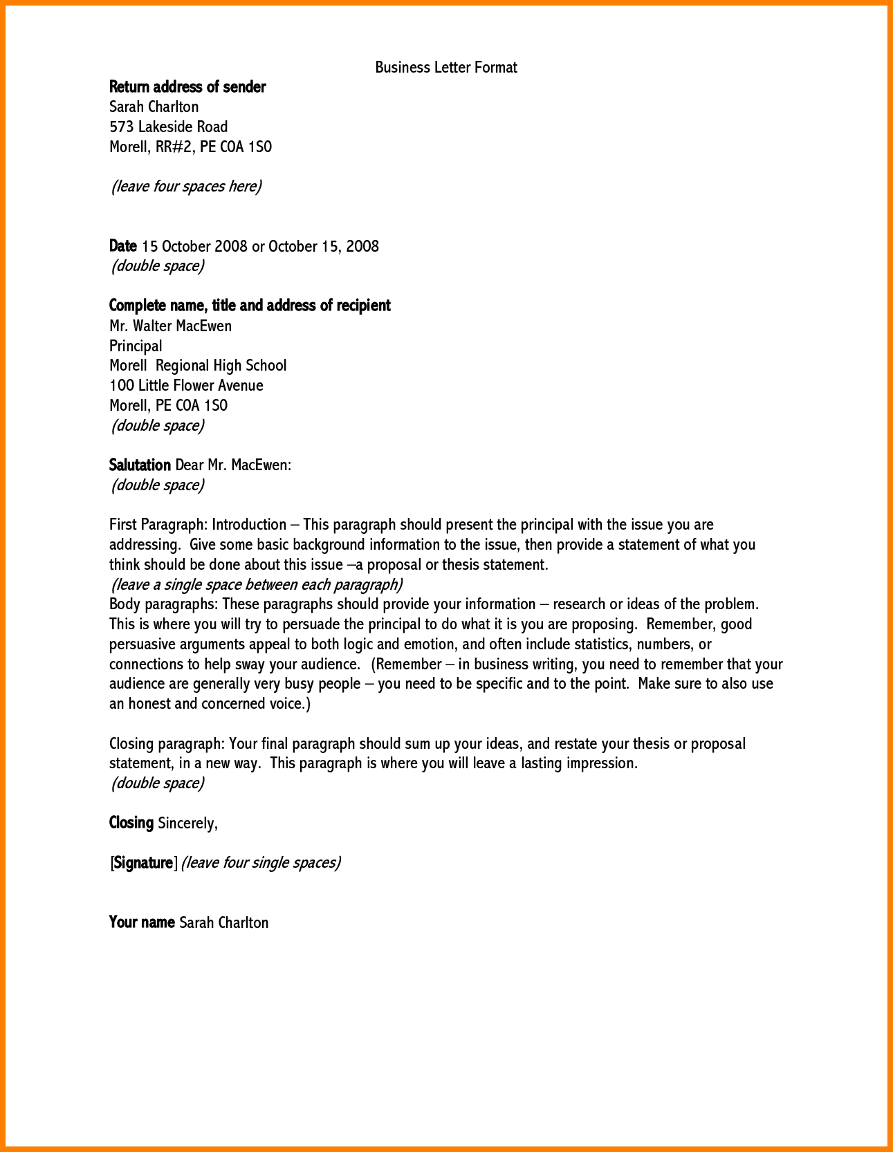 Business Letter Addressing Filename – elrey de bodas