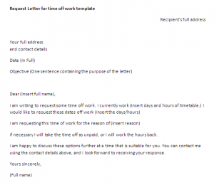 Sick leave letter example | letter samples & templates.