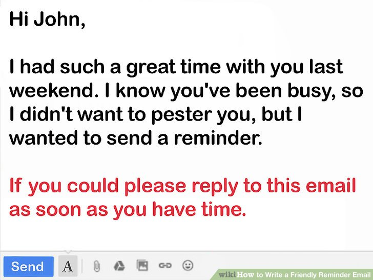 How to write a friendly reminder email | Function Fixers