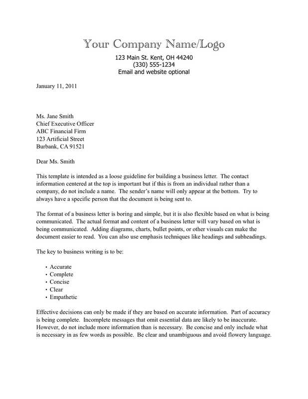 Company Business Letter Company Business Introduction Letter How