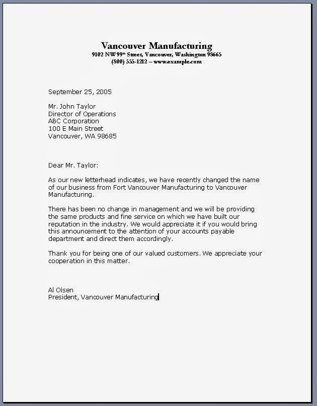 official business letter format 28 images 2018 official letter