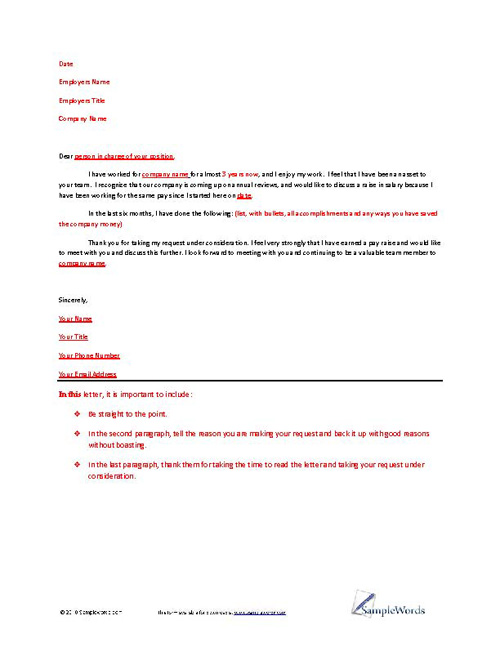 Letter of Request Example | Samples of Different Request Letters