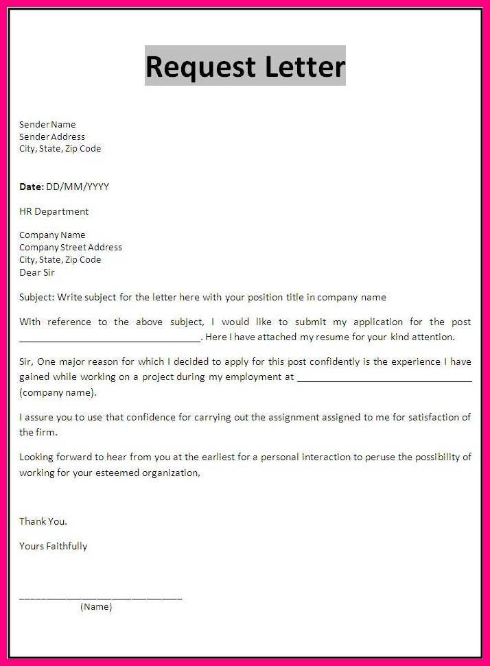 How To Write A Letter To Company Request Something | scrumps