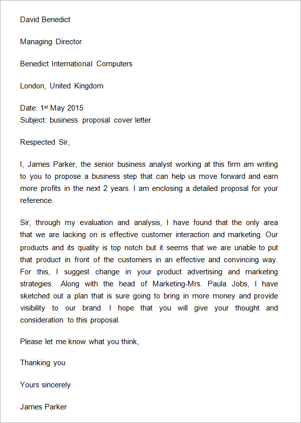 how to write a proposal letter examples