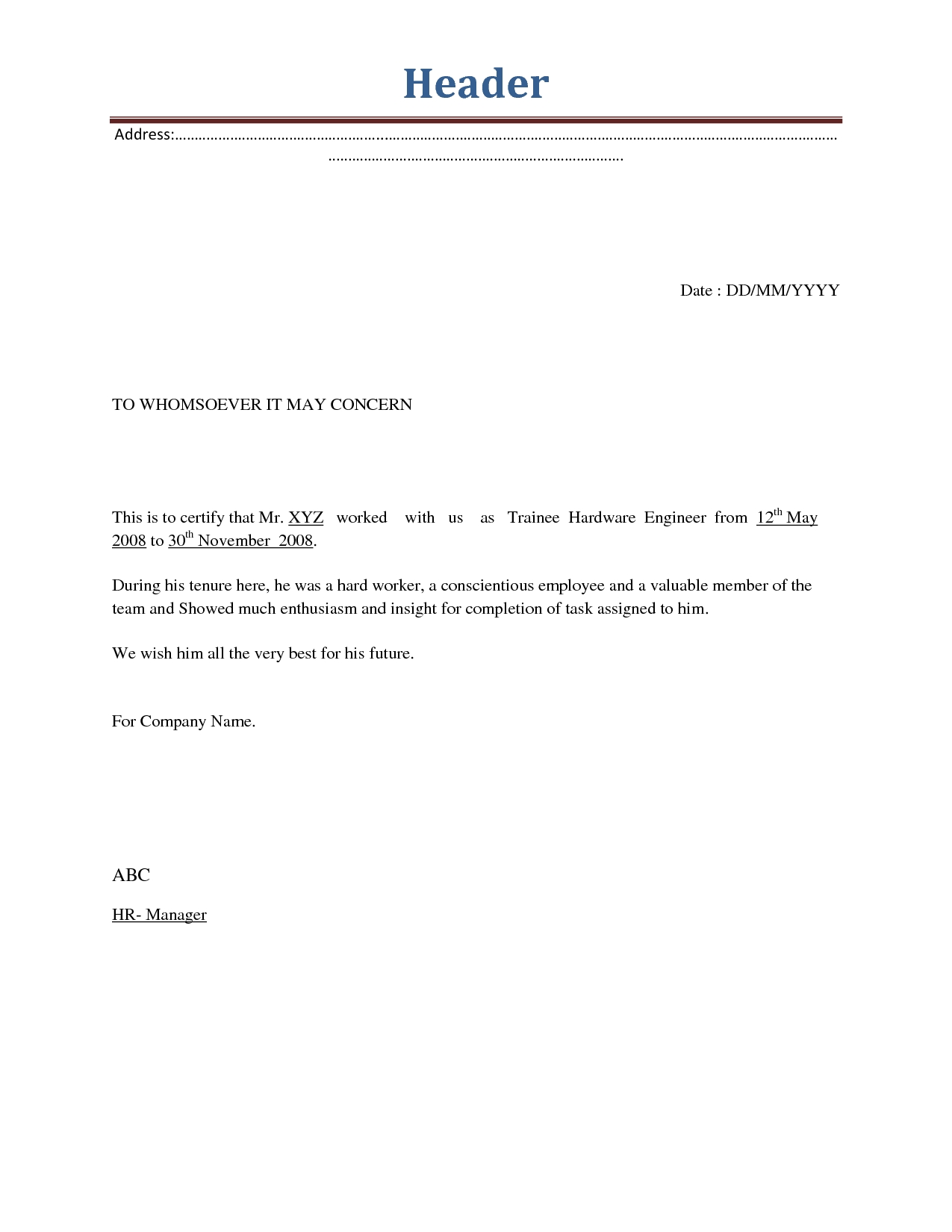 format of termination letter of employee Boat.jeremyeaton.co