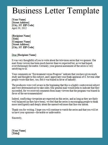 Business Letter Writing Business Letters Business Letters Letter