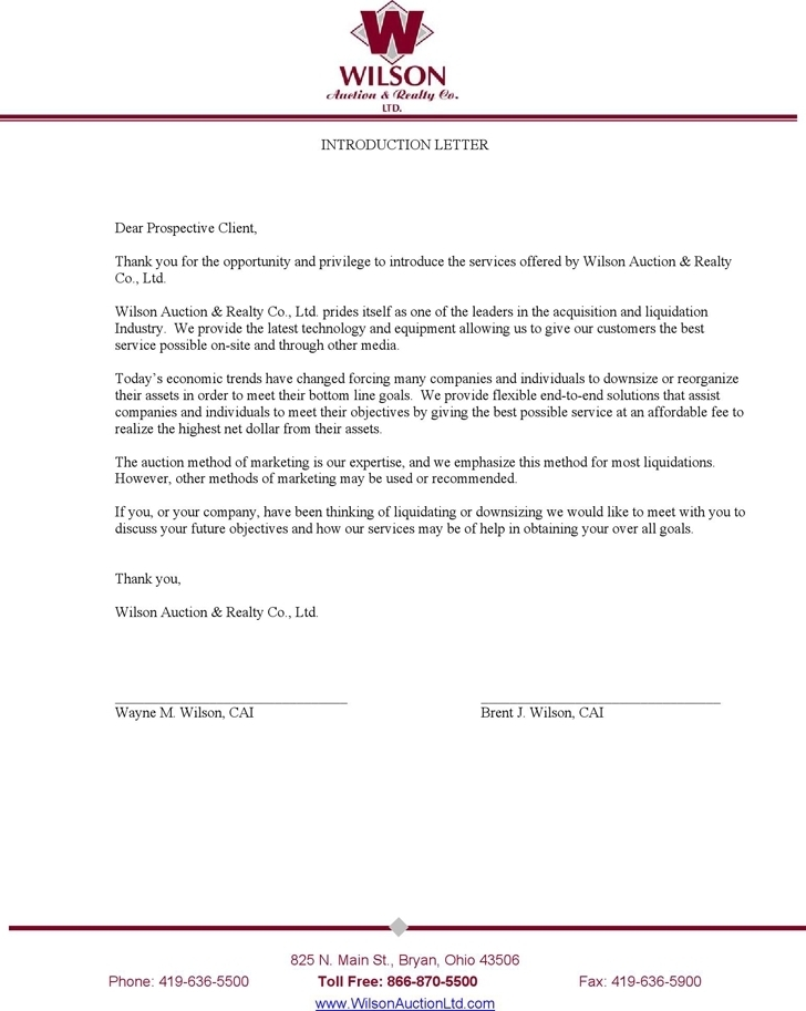 business introduction letter to new client | JObs | Pinterest