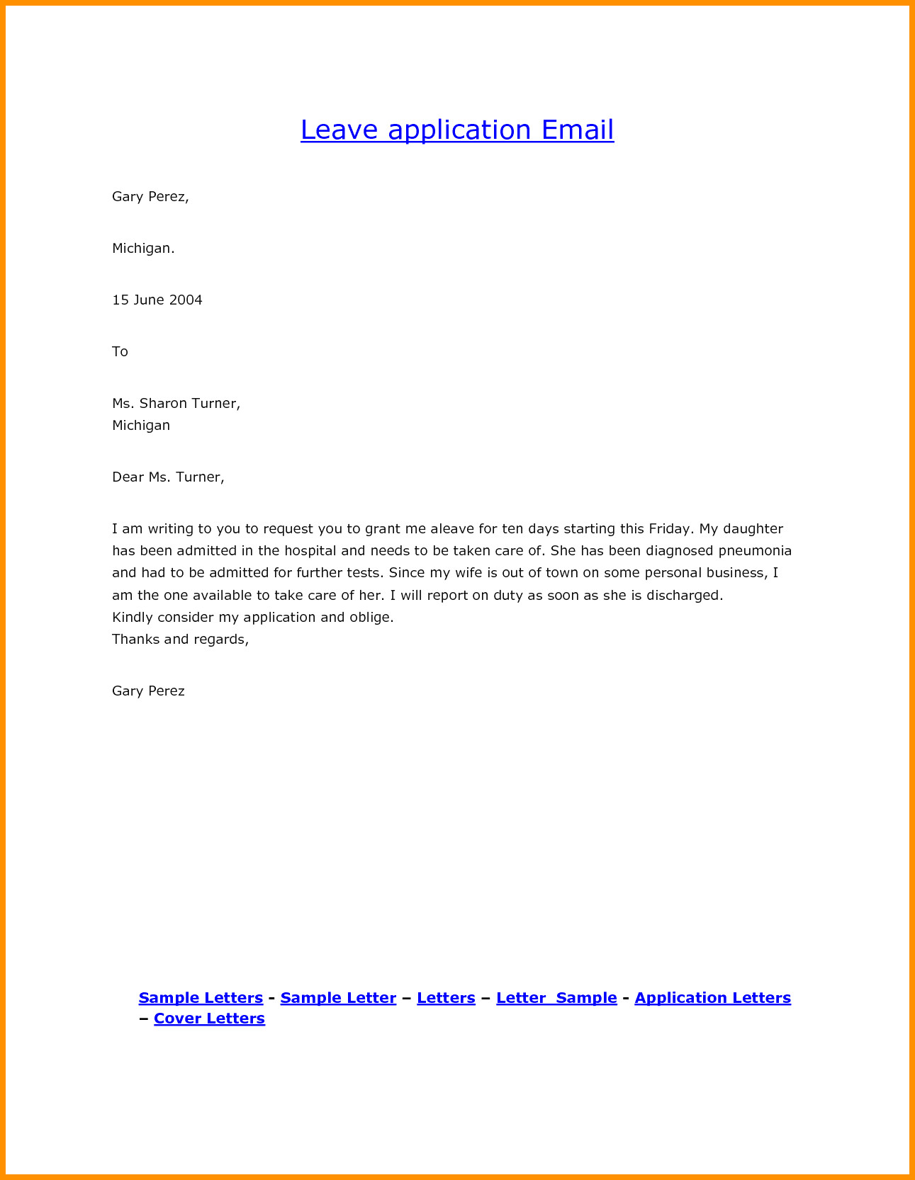 Leave Request Mail To Manager – band ible