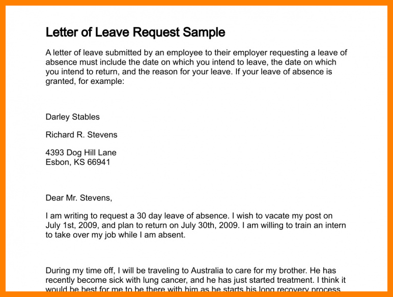 Luxury Email Requesting Leave | time to regift
