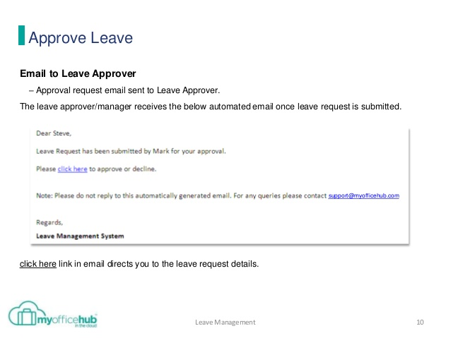 how to send a leave request mail to manager