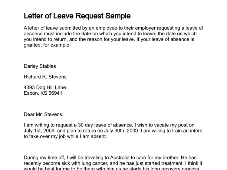 leave request template Gecce.tackletarts.co
