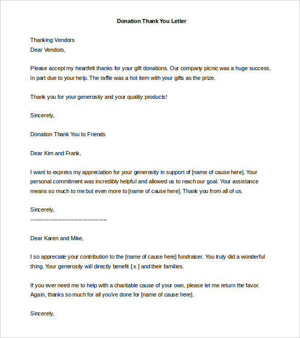 letter for donation template Gecce.tackletarts.co