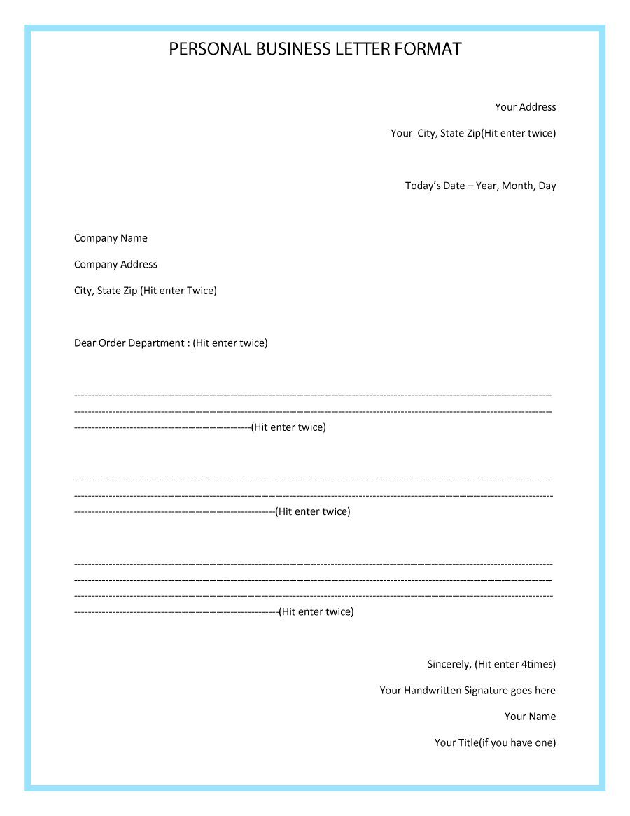 business letter formats Boat.jeremyeaton.co