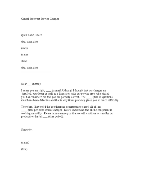 13 Sample Cancellation Letters Word
