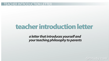 Student Teacher Introduction Letter … | back to …