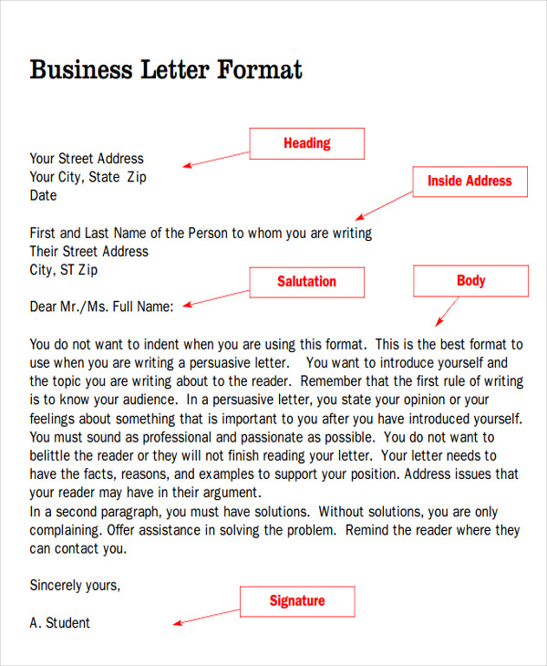 Salutation In A Letter Sample Business Letter Salutation 5