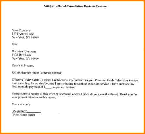 13+ letter for cancellation of services | shawn weatherly