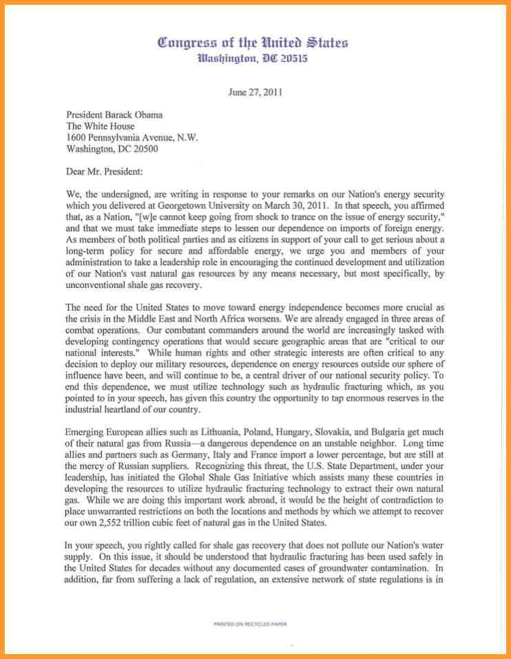 Letter To President Format Scrumps
