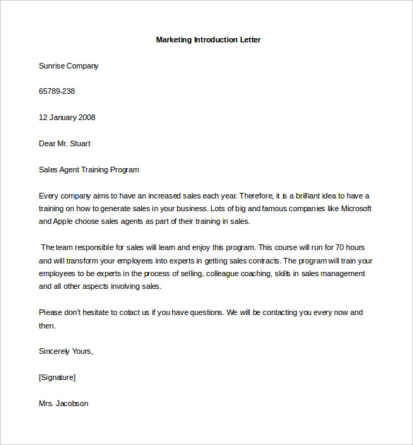 letter of introduction template letter of introduction for