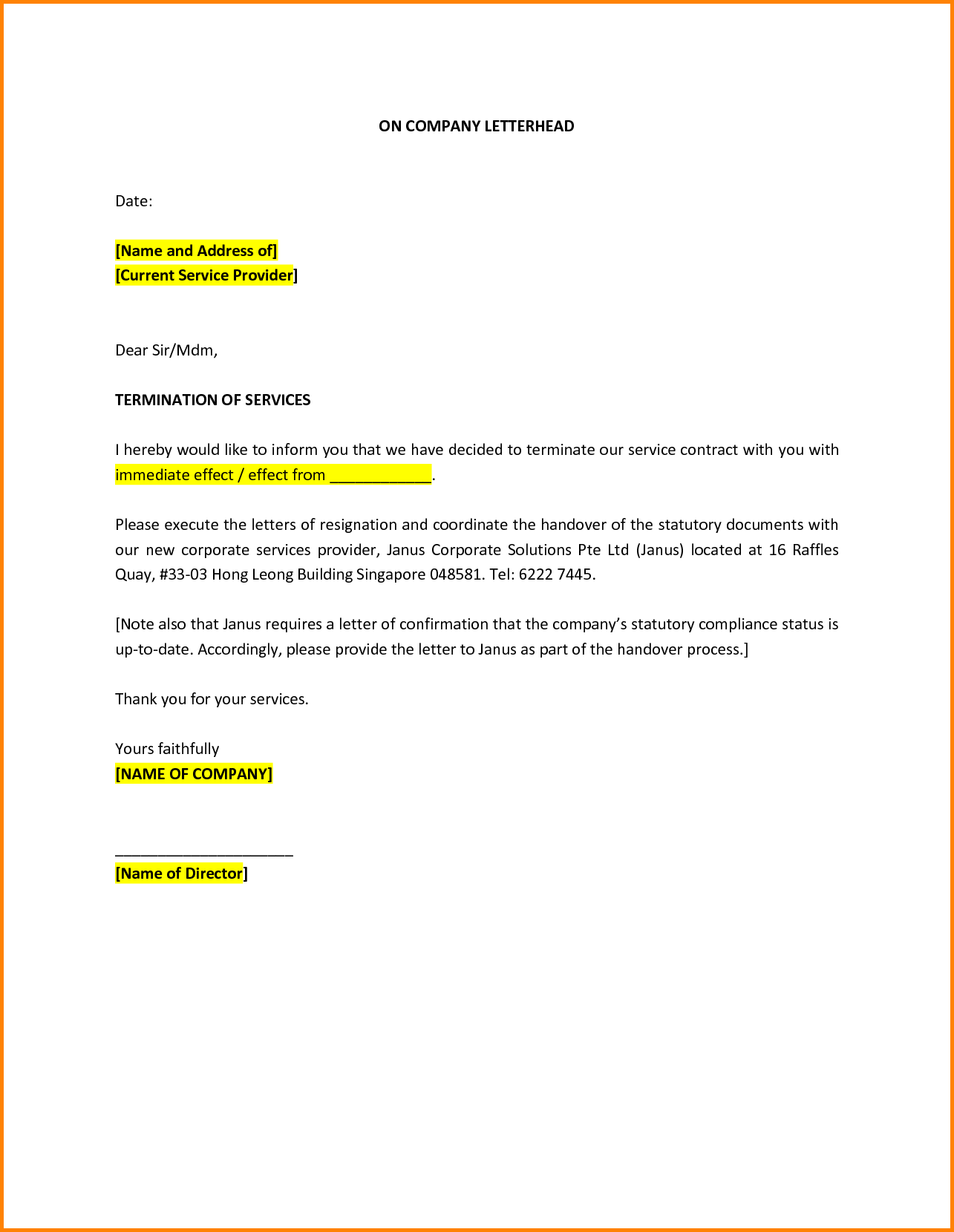example of termination of service letter Boat.jeremyeaton.co