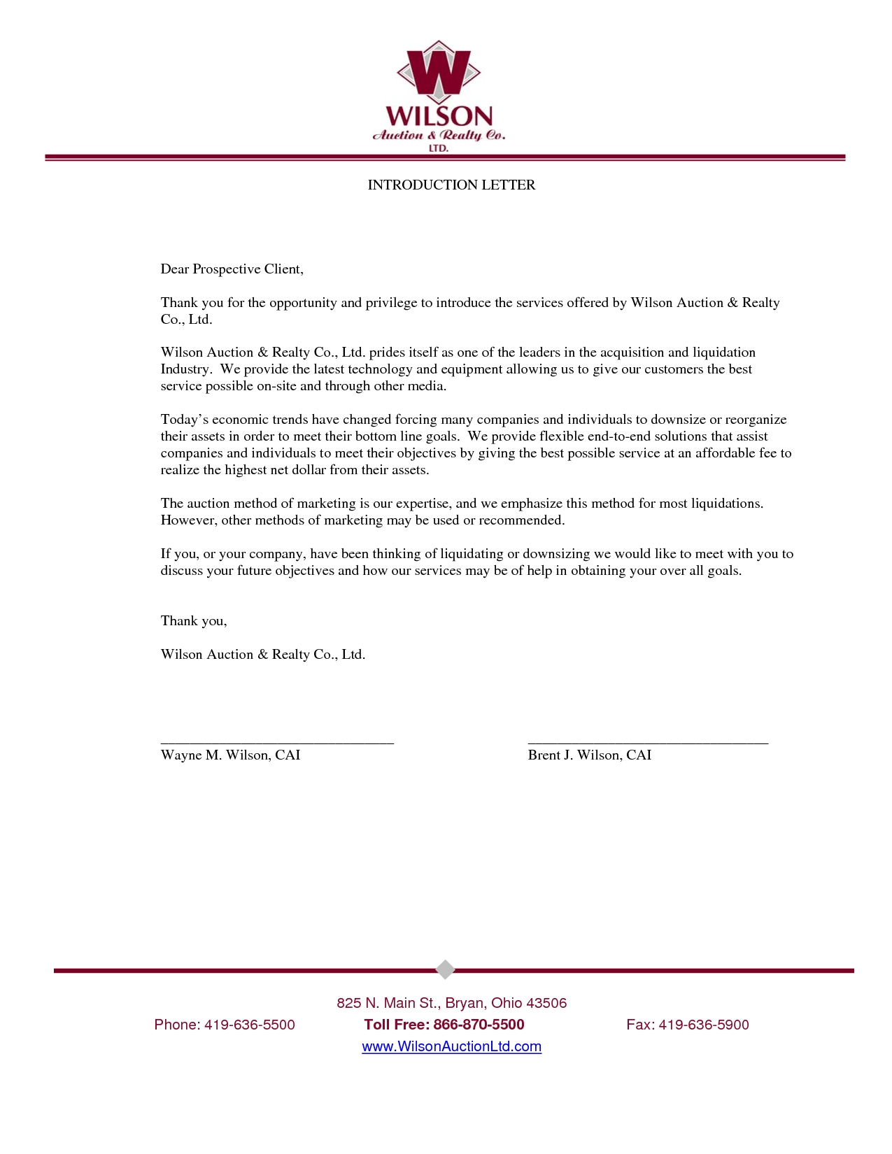 new business introduction letter sample