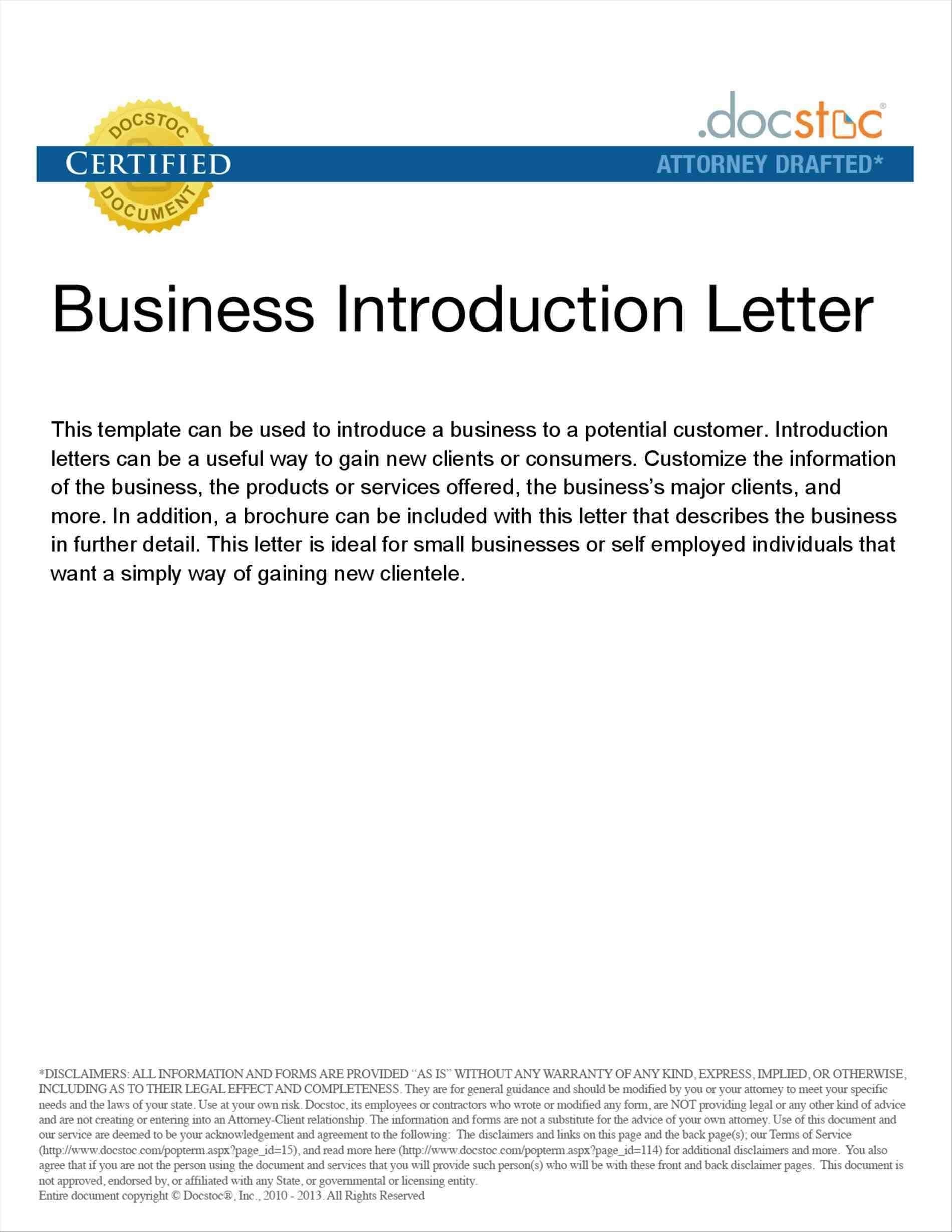 Introduction Letter Format For New Business Save Samples Business