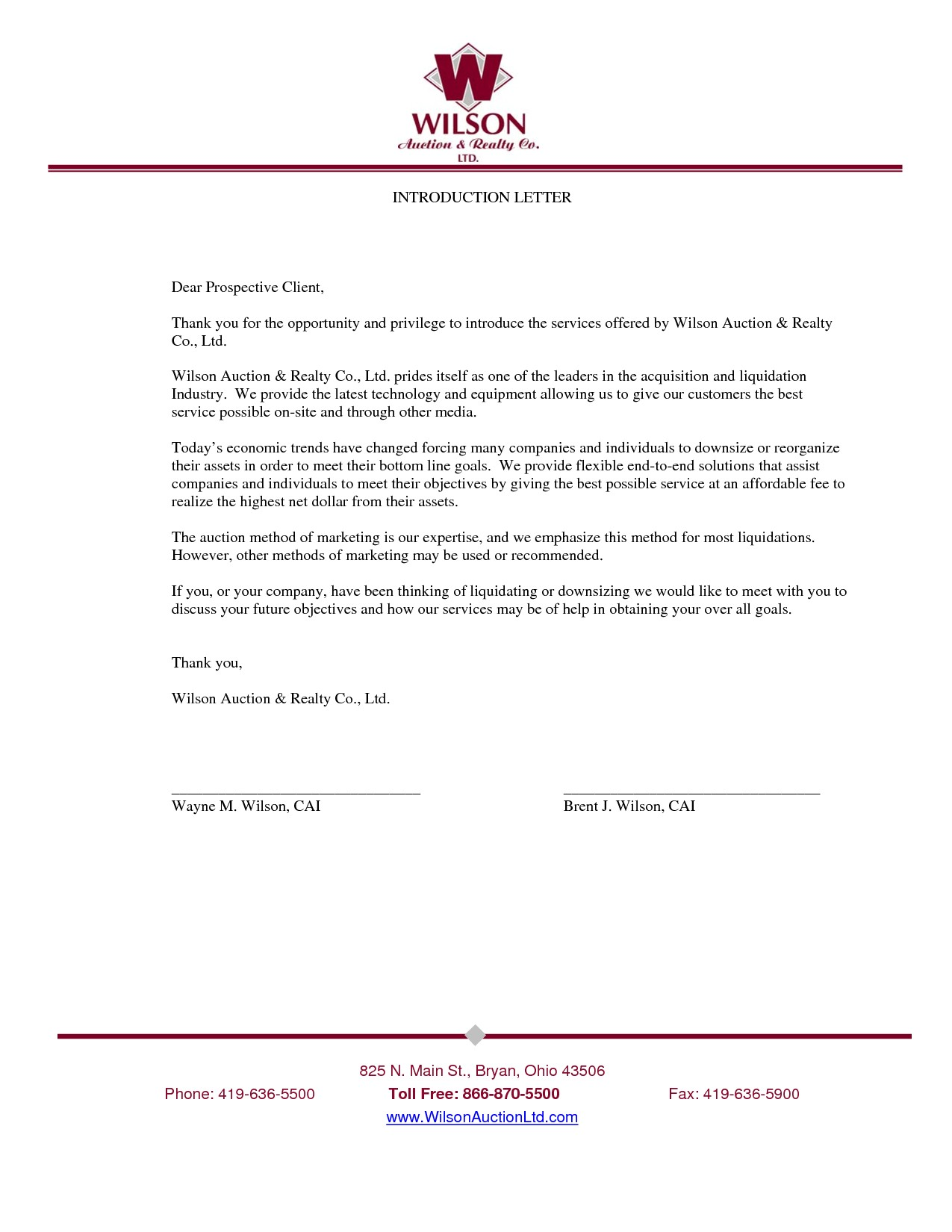Sample Of Introduction Letter For A Company Inspirationa New