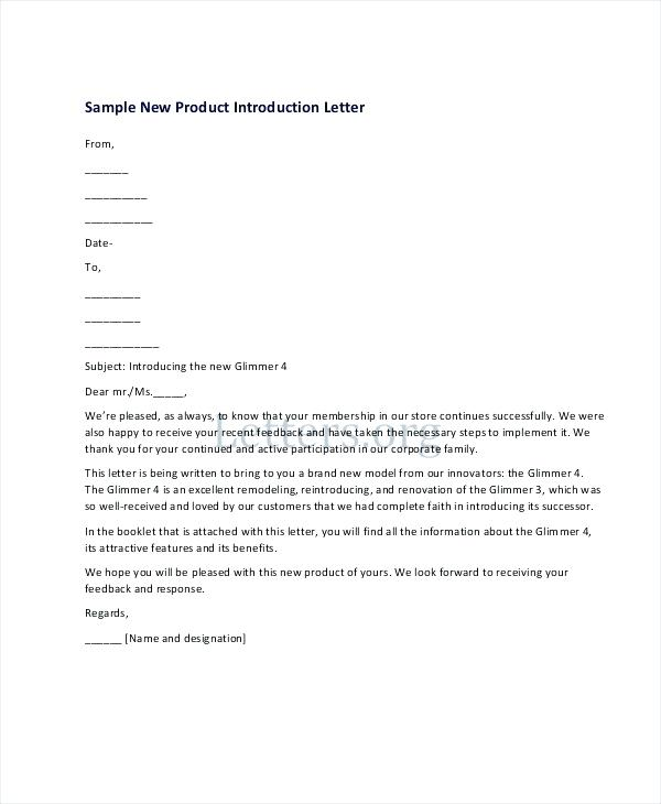 Product Introduction Letter Template Fresh Bunch Ideas Business
