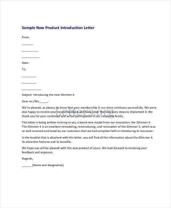 New Product Introduction Letter Template Arch times.com