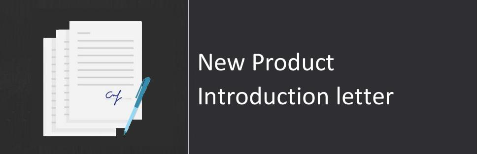 Product Introduction Letter Template